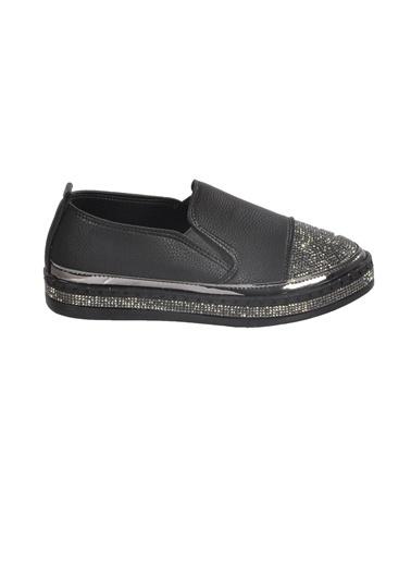 Mhd 2512 Siyah Kadın Günlük Ayakkabı Siyah
